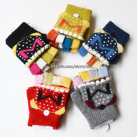 Wholesale Fingerless Gloves Boys - Kids Mitten Boys Glove Children Gloves Girls Gloves Winter Mittens Knitted Gloves Fingerless Gloves