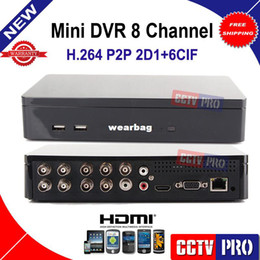 UK uk-uk - Wholesale-Mini 8Ch Network CCTV DVR Recorder System H.264 D1 Cloud P2P Standalone Mobile Phone View CCTV DVR 8 Channel HDMI Output