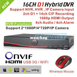 Wholesale Iphone 3g 16 - Wholesale-CCTV 16 channel DVR recorder D1 standalone hybrid DVR NVR system 3G WIFI DVR ONVIF for hikvision ip camera iphone view