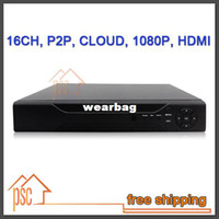 Wholesale Dvr 16 H 264 - Wholesale-CCTV Digital Video Recorder 16 Channel H.264 CCTV DVR with audio,1080P HDMI Output, Cloud P2P
