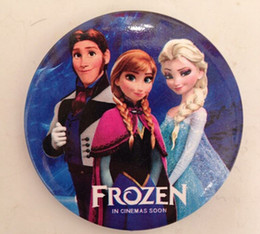 Wholesale China Wholesale Clothing For Children - Frozen Elsa Anna Brooches Pins Cartoon Party Badge Round Pin For Children girl Clip on clothing Scarf Bag charm jewelry gifts