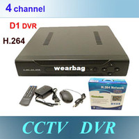 Wholesale Dvr Ch Full D1 - Wholesale-4 CH Full D1 H.264 Real-time Network Stand Alone DVR Recordera with a safety mobile Phone surveillance network