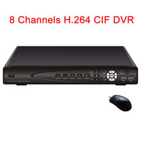 Grabadora Rc Baratos-Al por mayor-8CH CIF H.264 Digital Video Recorder DVR CCTV (alarma, audio, red, PTZ, USB, ratón, RC, Windows, Symbian, iPhone, Blackberry, Andriod)