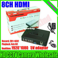 Wholesale Dvr Ch Recorder Hdmi - Wholesale-Free shipping security camera system dvr 8 ch Mini H.264 DVR real time 1920*1080 network HDMI 8CH DVR recorder video record