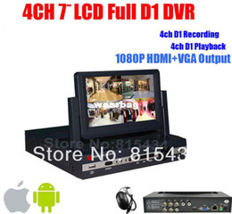 Wholesale Lcd Dvr Surveillance Cctv Recorder - Wholesale-Free Shipping DHL!Newest DVR 4 Channel 7 inch LCD Monitor All-in-one Complete Set Full D1 Video Surveillance CCTV DVR Recorder