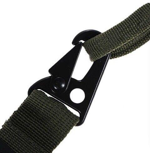 Durable rifle de rifle de 3 puntos negro Sling Bungee Rifle Gun Sling ajustable HOT