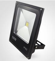светодиодные прожекторы ip65 цены оптовых-Оптовая цена Ультратонкие 50W теплый белый / холодный белый Светодиодный прожектор IP65 водонепроницаемый 5000LM Открытый High Power Led Прожекторы AC85 ~ 265V