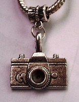 Wholesale Hot or Antique silver Camera Photo Photographer Photography Dangle Bead Fit Silver European Charm Bracelets x mm
