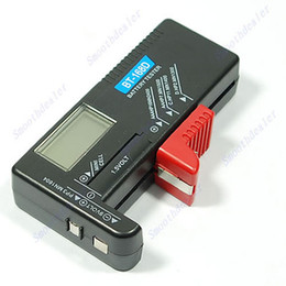 Wholesale 9v 6f22 Alkaline Battery - Free Shipping Digital LCD AAA AA PP3 6F22 Alkaline 9V Battery Tester order<$18no track