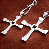 Wholesale Titanium Fast Furious Steel Necklace - 2014 FAST and FURIOUS Dominic Toretto's Cross Pendant Necklace Titanium Steel Free With 60cm Chain fashion jewellery