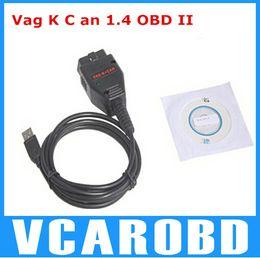 Wholesale Vag Commander Car - Hot sales VAG K + CAN 1.4 OBD II OBD 2 USB Diagnostic tool Commander Car usb scanner auto diagnostic scanner From Sharon