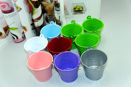 Wholesale Mini Bucket Candy Boxes - Free Shipping!Wedding Candy Mini Bucket wedding favors, mini bucket, candy boxes favors,favor tins package, 10 color colorful kegs 1002