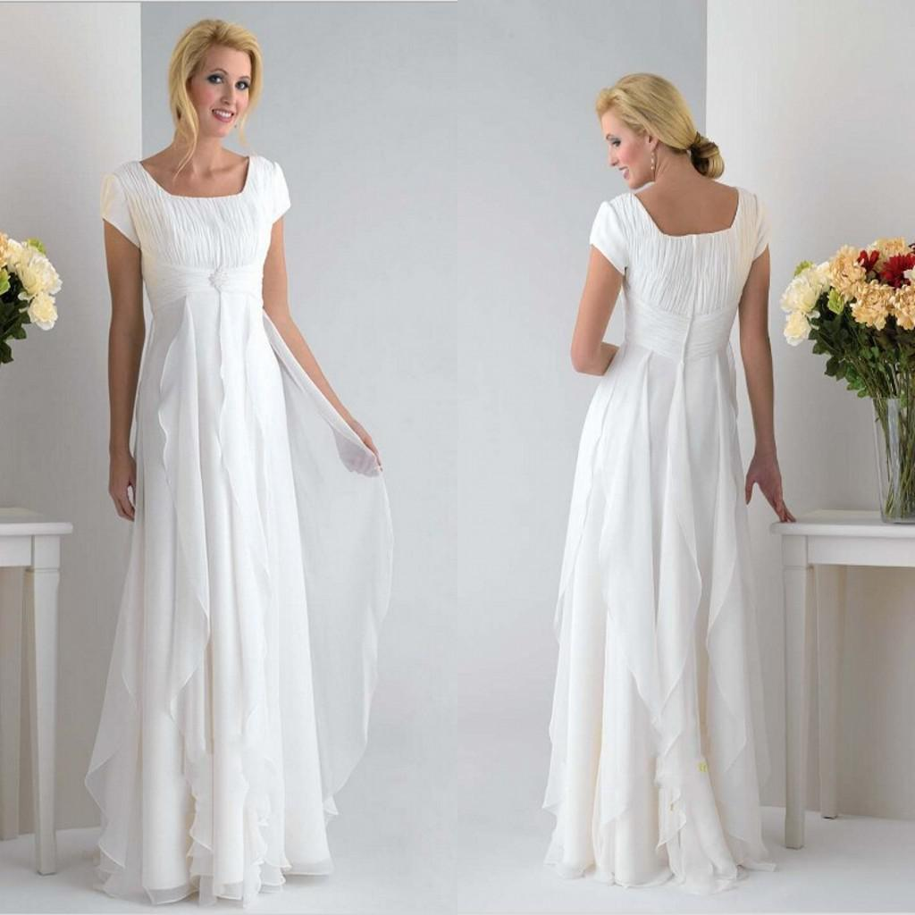 White Chiffon Mother Of The Bride Dresses Plus Size