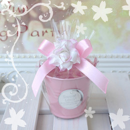 Discount tin buckets favors - Wedding Candy Mini Bucket wedding favors, mini bucket, candy boxes favors,favor package,10 color colorful kegs with all