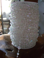 Wholesale Hanging Gems - 99 Feet Iridescent Gemstone Crystal Beads Strand Garland Hanging Gem Centerpiece Wedding Holiday Decor Tree or Beaded Curtain