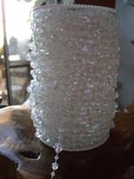 ingrosso albero di cristallo in rilievo-99 Piedi Iridescent Gemstone Crystal Beads Strand Ghirlanda Hanging Gem Centrotavola Wedding Holiday Decor Tree o Beaded Curtain