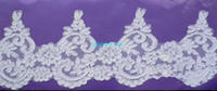 Wholesale Mesh Hem Dress - 13 cm   5.1 inches wide Mesh Corded Lace Trim Bridal Lace Trim Wedding Dress Bridal Veil DIY Lace Hem MCLT004