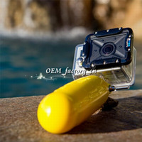 Wholesale Gopro Bar - Underwater Rockered Bobber Advanced Diving Floating Monopod Handheld Grip Stick Floaty Bar with Wrist Strap for Gopro Hero 1 2 3 Camera