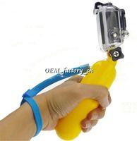 Wholesale Gopro Floaty - Universal Gopro Underwater Floaty Stick Diving Handheld Hand Floating Monopod Rockered Bobber Grip Wrist Strap for Hero 1 2 3 3+ Camera