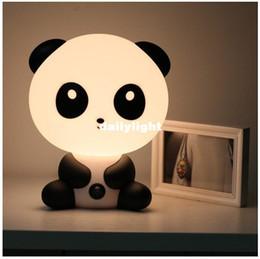 Wholesale Electric Incandescent Lamp - Wholesale-Lovely Cartoon Panda Novelty Lamp Energy-Saving Creative Small Night Lamp Insert Electric Panda Shape Lamp Free Shipping