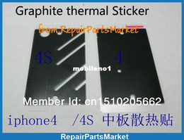 Wholesale Iphone 4s Heat - Wholesale-Graphite thermal Sticker middle chassis plate anti-static adhesive strip mid frame heat dissipation sticker for iphone 4 4g   4s