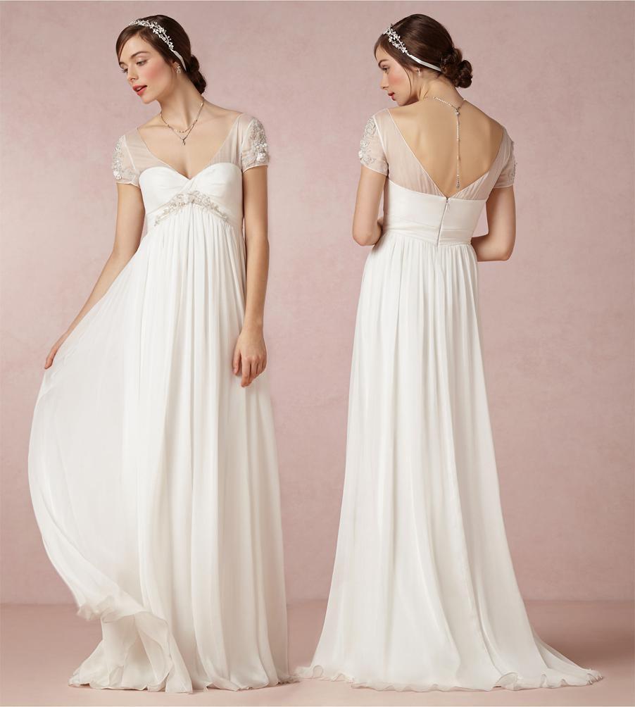 Short Sleeve Simple Wedding Dress: Sheer Illusion Short Sleeve Wedding Dresses Beach Sheath