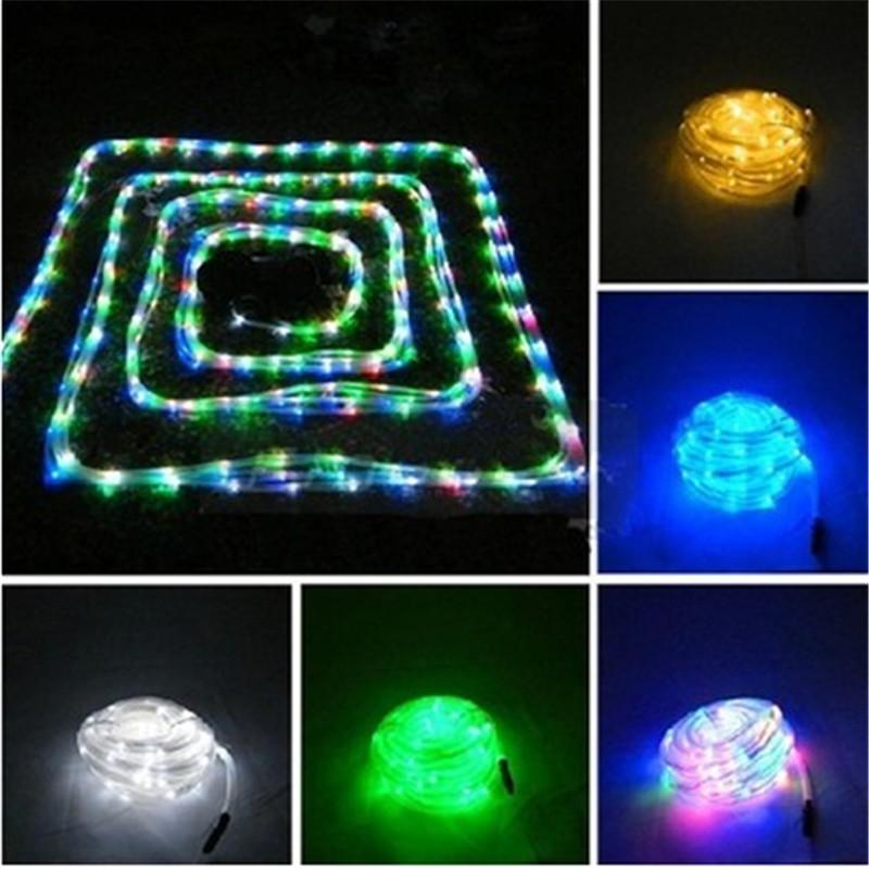 2018 Led Solar Rope Light String Light 12m 100 Led Solar Powered Neon Rope  Light Round Panel Solar Lamps Solar Strings Led Solar Strips From Cnmall,  ...