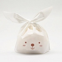 Wholesale Lovely Lunch Bags - Free shipping rabbit ear lunch bags gift packaging bag lovely rabbit bags decoration