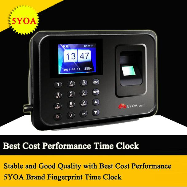 Biometric Fingerprint Time Clock Recorder Recording Attendance Employee  Digital Machine Electronic Standalone Punch Reader Time Clock