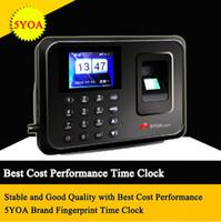 máquina de gravação venda por atacado-Biométrico de Impressão Digital Gravador de Relógio de Tempo de Gravação Atendimento Empregado Máquina Digital Eletrônico Standalone Soco Leitor de Relógio de Tempo
