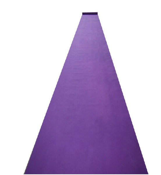 New Arrival Wedding Favors Purple Nonwoven Fabric Carpet Aisle Runner For Wedding Party Decoration Supplies Shooting Prop 20 Meters/roll