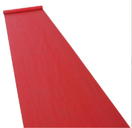 wedding decorations stands UK - 2016 New Wedding Favors Red Nonwoven Fabric Carpet Aisle Runner For Wedding Party Decoration Supplies Shooting Prop 20 Meters roll