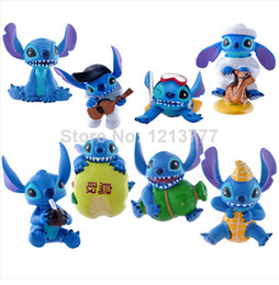 Wholesale Lilo Stitch Figures Set - Set (8pc) LILO & STITCH Elvis Presley Cosplay Mini 2'' Figure Collection