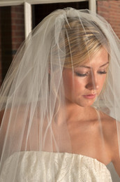 $enCountryForm.capitalKeyWord Canada - Iovry Blusher and Fingertip Length Veil Two Tier Veil with Raw Cut Edge Bridal Veil White Available 2016 New Arrive Hot Sale Veils