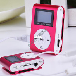 Wholesale Mini Clip Mp3 Music Player - Wholesale-2014 New Product Sport Mini Clip MP3 Player Portable Digital Music Player with Screen Red#7 SV000097