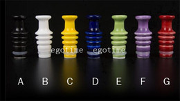 Wholesale Ego Atomizer Bottle - NEW 510 Ceramic Drip Tips screw bottle Shape Fit EGO Clearomizer 510 Thread Atomizers bullet glass acrylic drip tip E-cigar EGO Mouthpiece