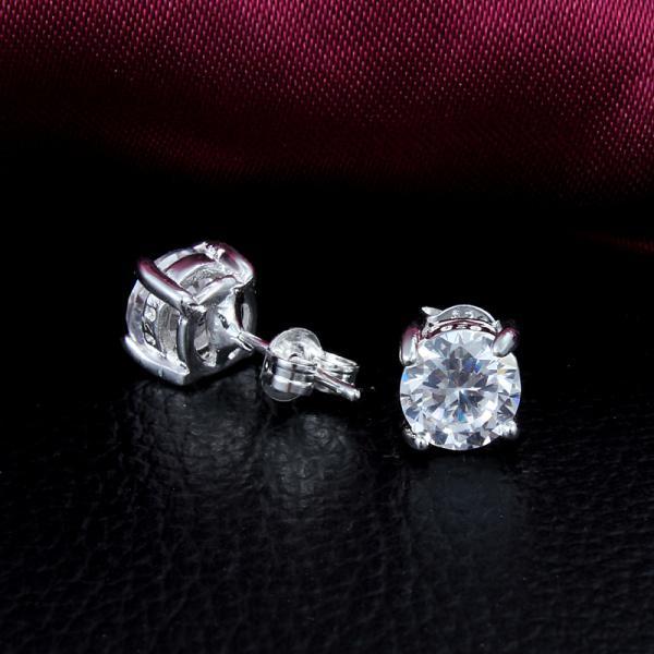 2014 تصميم جديد أعلى جودة 925 الفضة الاسترليني السويسري تشيكوسلوفاكيا الماس أقراط الأزياء والمجوهرات الشحن مجانا هدايا الزفاف