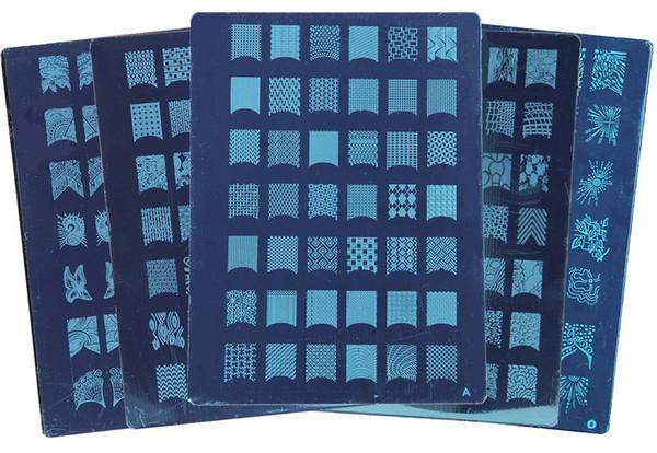 Kit del arte del clavo Sistema de la placa de la manicura Diseños del salón diseños de la placa del raspador de las placas PLANTILLA de la ESTAMPILLA del ARTE del CLAVO A-T 20 diseños