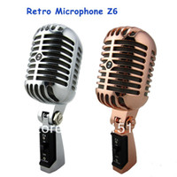 Karaoke speaker wire mesh - Professional Retro Microphone Speaker Jazz blues Microphone With Metal Mesh Classic Dynamic Wedding Booth Mic Free Shiping