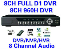 Wholesale D1 Security System Hdmi - CCTV 8CH Full D1 H.264 DVR Standalone 960H DVR SDVR HVR NVR Security System 1080P HDMI Output DVR PTZ support + Free Shipment