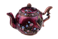 Wholesale Metal Butterfly Boxes - Free shipping Purple Teapot with Butterfly trinket box hinged keepsake box wholesale