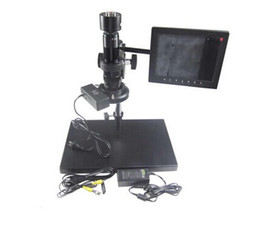 Wholesale Microscope Digital Eyepiece Camera - New arrival 30-180X KE208-A Electron Zoom Video Eyepiece digital Microscope with CCD camera system and VGA Interface