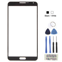 Wholesale Tool For Lens - Front Outer Replacement Touch Screen Digitizer Glass Lens For Samsung Galaxy Note 3 III   N9006 With Tools - White   Black