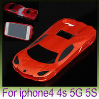 Wholesale Green Luxury Cars - Hot ! For iPhone6 4.7inch iPhone 6 5s Deluxe 3D 2 in 1 racing car case, Luxury Sports car cases 1pcs Free Shipping