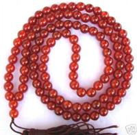 Wholesale Natural Jade Beads Prayer - 108 Tibetan Buddhist Natural Red Jade Prayer Beads Mala