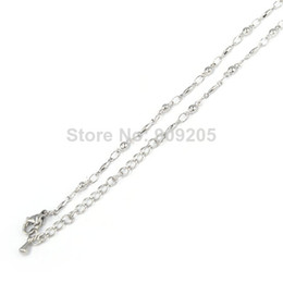Wholesale China Wholesale Jewelry Fast Shipping - Free Fast Shipping 10Pcs Newest Silver stainless steel Chain Jewelry Link Necklace Chains With Lobster Clasps