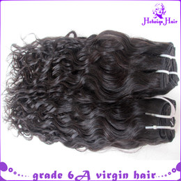 """Wholesale french weaving - 12-30"""" 5pcs lot French curl can mix Virgin Brazilian Hair Weave Human Hair Extension natural black"""