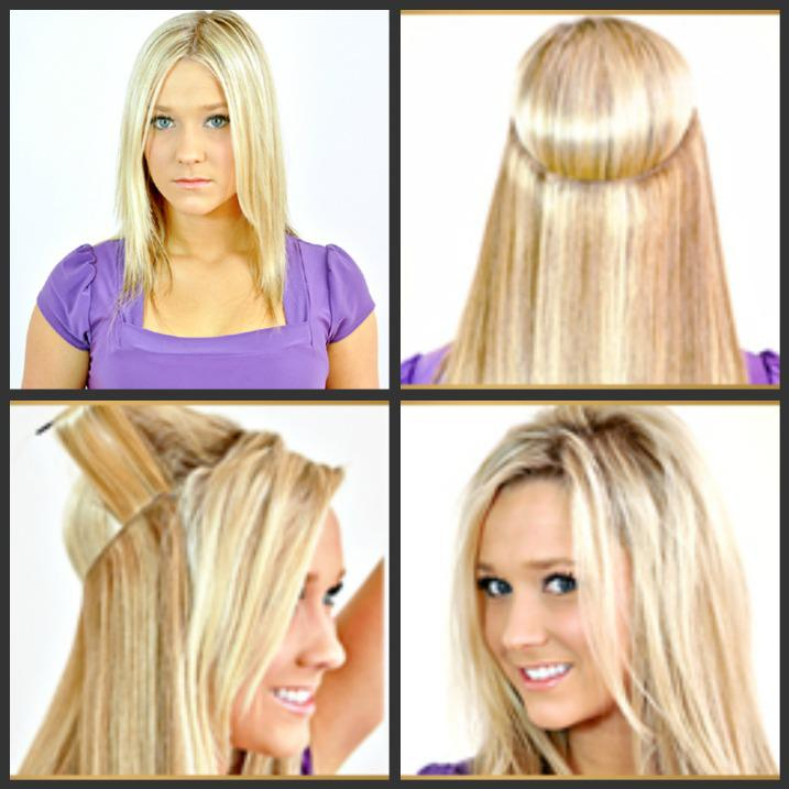2014 Fashion Style Flip In Hair Extensions Halo Hair Extensions All