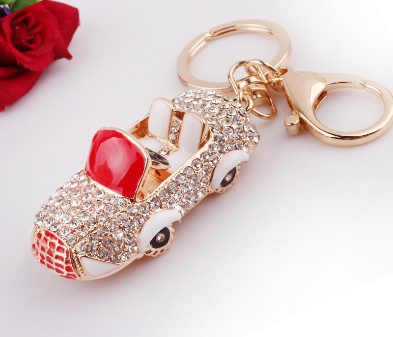 3D Car Bling Fake Diamond Keychain Keyring Key Ring 12PCS fashion Designs  Bag Keychains Party Wedding Best Gifts Promotion Free Ship 0cd00755e