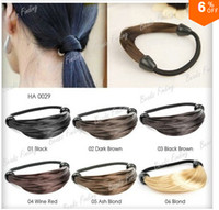 Wholesale Hair Rope Synthetic Fiber - Free shipping!!! new Synthetic Fiber hairpeice Ponytail Elastic ring Hair Rope   Holers Hairband 1pcs hair band Fashion rings